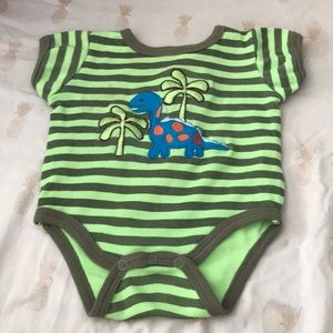 Carters  Dino striped onesie